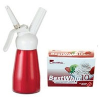 Kitchen Whip Mini ½ PT / 250ml + 4 Best Whip 10