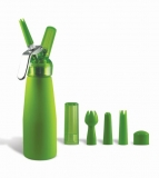 Green Suede 1 Pint Whip Cream Dispenser with Chargers