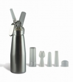 Silver Suede Series  1/2 Pint Whip Cream Dispenser